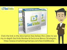 Check out this exclusive review of the Viddify and SociVids and learn about the advantages and dis-advantages of this product -- YouTube Marketing --- http://emarketingchamps.weebly.com/socivids.html