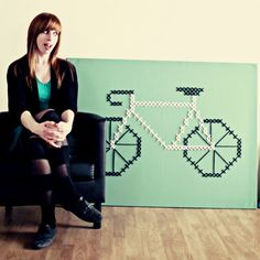 Giant cross stitch bike