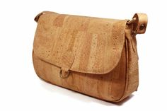 $126  MEDIUM SHOULDER BAG WOMEN´S CORK NATURAL ORIGINAL GENUINE PORTUGUESE KORK LIÈGE #Handmade #ShoulderBag