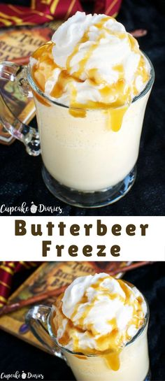 That iconic drink from the beloved Harry Potter series in a frozen treat! Butterbeer Freeze is a fun drink to serve at a Harry Potter party or while watching one of the movies.