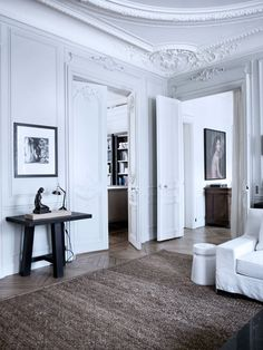 Those Paris Apartments...the floor, the doors, the molding...