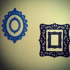 Laser Cut Wood Frames from Michael's + paint = instant wall art!