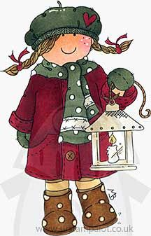 Molly Blooms - Molly with Christmas Lantern