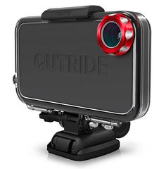 Mophie Outride. The Outride case and mounting system from Mophie turns your iPhone into a rugged action camera. No more toting the camera and the phone on your extreme adventures. This thing is impact and water-resistant and comes with a variety of quick-release mounts for strapping it to everything you ride. Available mid-September.