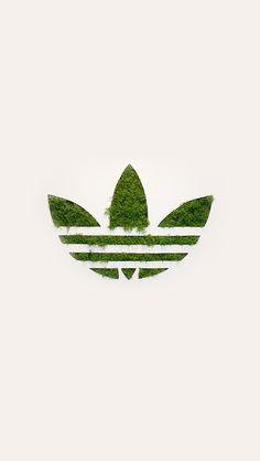 freeios8.com - am59-adidas-logo-green-sports-grass-art - http://bit.ly/1LguzK9 - iPhone, iPad, iOS8, Parallax wallpapers