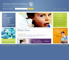 American Academy Pediatrics, Web Design by Faster Solutions