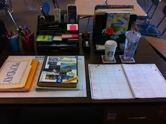 """End of the Day Routine....As an organizational """"nut,"""" I couldn't agree more with this.  I can't stand leaving anything on my desk at the end of the day.  I want to walk into my classroom in the morning, and know that I am ready to go. :)  I shall create a check-list for my student teacher."""