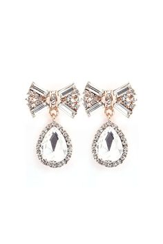 Classic Crystal Bow Dangles//