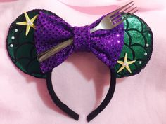 Mouse Ears (Mermaid) by CrazyBeautifulCreati on Etsy https://www.etsy.com/listing/223204822/mouse-ears-mermaid