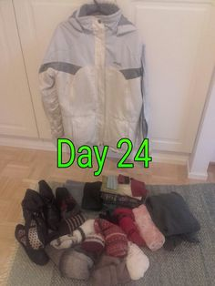 Clothes. And first shoes during this challenge 😆 #MinsGame Day 24 #reducing #recycling #Minimalism