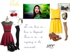 """Once Upon a Time: Belle"" Inspired Fashion, OUAT     Belle and Lacey outfits. Guess which is which?"