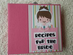 Wedding Shower Recipe Book by SimplyMemories on Etsy.  Great Shower Gift!