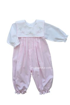 9b63af2b941 Pink check with embroidered tiny bows Frocks And Gowns