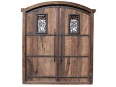 Antique Arch Double Front Planked Door Wrought Iro