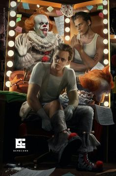 Pennywise is the fucking hottest make thing I ever seen! Horror Movies Funny, Horror Movie Characters, Classic Horror Movies, Iconic Movies, Scary Movies, Bill Skarsgard Pennywise, Skarsgard Family, Clown Horror, It The Clown Movie