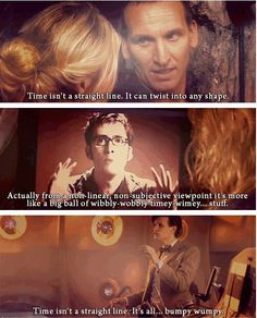 I love this because they reflect each doctor's personality. 9 is straight to the point, 10 tries to sound brilliant but ends failing, and 11 is just full on ridiculous.