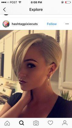 Pixie cut frisuren - Best New Hair Styles Dark Blonde Hair, Short Blonde, Blonde Pink, Pink Blue, Blonde Makeup, Short Hair Cuts, Short Hair Styles, Pixie Cuts, Buzzed Pixie