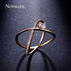 Find More Rings Information about NEWBARK X Cross Ring Minimalist A Big Cubic…