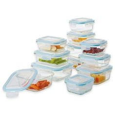 Pro Glass 24-Piece Food Storage Set with Easy Snap Lids - BedBathandBeyond.com