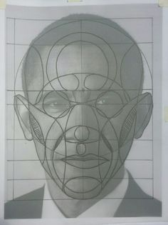 Reilly method practise with a photo of president Obama. #reillymethod #head #proportion