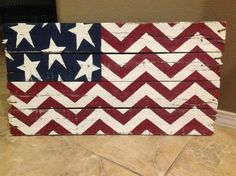 Chevron American Flag made from Pallets by HandmadeDecorByLisa