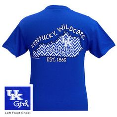 New UK Kentucky Wildcats Chevron State Girlie Bright T Shirt | SimplyCuteTees