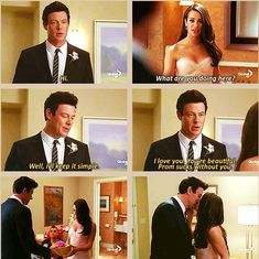 Well Ill keep it simple. I love you. Youre beautiful. aww  Finn and Rachel. #finchel #glee