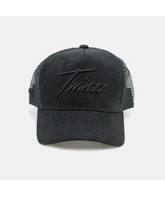 Twinzz Lighting Script Trucker Cap Black-Twinzz-Gym Wear