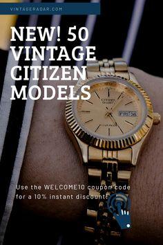 Cute Watches, Vintage Watches, Watches For Men, Watch Diy, Wear Watch, Citizen Watches, Quartz Watch, Fashion Watches, Gold Watch