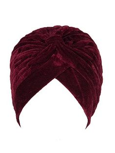 Shop Wine Red Velvet Turban Hat from choies.com .Free shipping Worldwide.$5.99