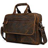 True Grit Executive Blairzy - Maletín para portátil (piel, con asa para llevar cruzado Marrón marrón 16 Inch (40.64 CM): Amazon.es: Equipaje