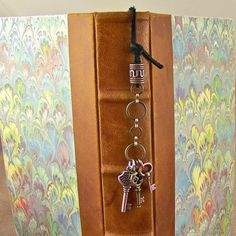 Bookmark with key charms | BrookMark via Etsy