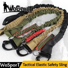 Wosport軍事安全ストラップストラップロープクイックリリースラインクライミングロープ戦術保護スリング