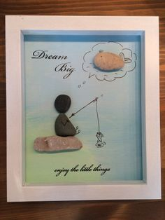 9C1C3021-9725-46DF-949B-9A744B87C553 Pebble Art Family, Stone Pictures, Fathers Day Crafts, Grandparent Gifts, Stone Art, Homemade Gifts, Rock Art, Dream Big, Painted Rocks