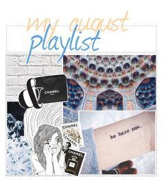 """☆ - my August playlist"" by wheezzyseed-icons ❤ liked on Polyvore featuring art"