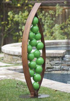 Snap, a modern garden sculpture by TerraSculpture was featured in The Donna and Senator Percy Malone Healing Gardens at the University of Arkansas Medical Center.  #healinggarden