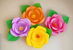 Today I'm gonna show you how to make Hawaiian Style Giant Paper flowers. If you are planning to have a Hawaiian Party, these flowers are an amazing. Giant Paper Flowers, Big Flowers, Diy Paper, Paper Crafts, Diy And Crafts, Crafts For Kids, Flower Video, Paper Flower Backdrop, Unicorn Birthday Parties
