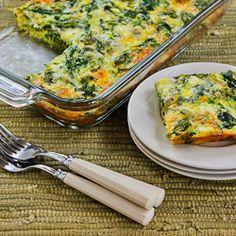 Recipe for Baby Kale, Mozzarella, and Egg Bake (and Ten More Ideas for Starting Your Day with Kale!) | Kalyn's Kitchen®