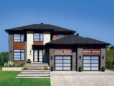 Contemporary Modern House Plan with 2145 Square Feet and 4 Bedrooms from Dream Home Source | House Plan Code DHSW077930