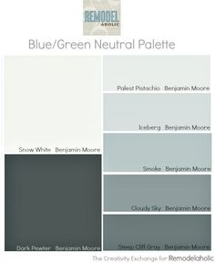 Easy paint color strategy for the whole home.  How to work off of one paint card {Remodelaholic}