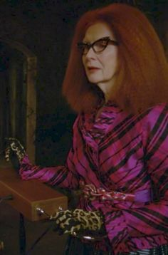 Frances Conroy as Myrtle Snow in American Horror Story: Coven. // Characters who play the theremin are my favourites Ahs, American Horror Coven, Frances Conroy, Misty Day, Anthology Series, Cool Costumes, Spirit Costumes, Halloween Costumes, Horror Stories