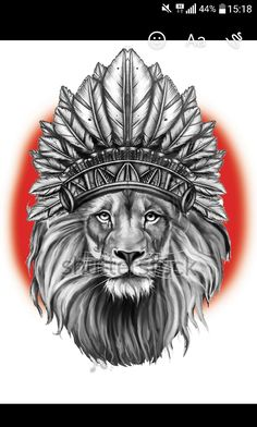 Lion indien drawing dessin