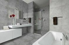 concrete look tiles on bathroom - Google Search
