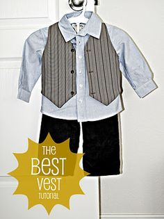 Boys' Best Vest Tutorial (with pattern) - Made one for my son and one for my nephew for my sister's wedding - They turned out really cute!