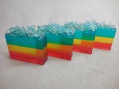 Snow Cone SOAP LOAF 1.5 lb  Fun Summer Kids by CindysBathCreations