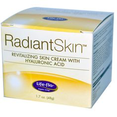 Life Flo Health, Radiant Skin, Revitalizing Skin Cream with Hyaluronic Acid, 1.7 oz (48 g)