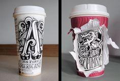 Coffee Time: Ilustraciones sobre vasos de café