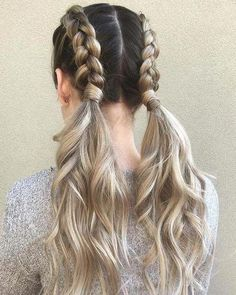 21 cute braided hairstyles for the summer of 2018 hair Related posts: Quick DIY Hair Tutorial Video Cute Braid Tutorial Double dutch braid into buns, hairstyle for summer. 25 Stunning Braids Hairstyle Ideas for This Summer # Hairstyle # Ideas Easy Summer Hairstyles, Cute Braided Hairstyles, Pretty Hairstyles, Hairstyle Ideas, Country Hairstyles, Hairstyles 2016, Hairstyles Tumblr, Cute School Hairstyles, Braided Pigtails