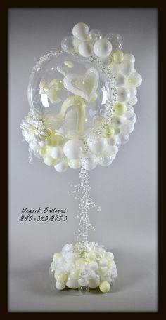 Wedding love Centerpiece hearts bubble by Elegant Balloons