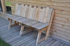 pallet seat, wooden, reclaimed wood, recycle, pallet design, woodcraft....